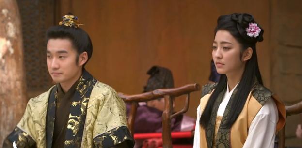 Kongmin király és Noguk hercegné szerelmi szála aranyos, de unalmas. (Lju Dokhvan és Pak Szejong)