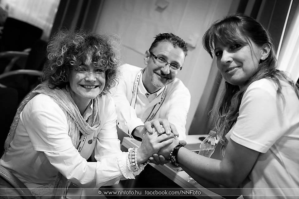 Mezei Andrea, Bodor Márton, Sződy Judit, a konferencia szervezői