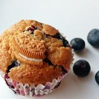 Áfonyás muffin növényi alapon