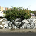 Graffitik, tökéletes összhangban a természettel