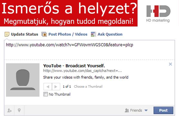 YouTube videó fb-n megosztási hiba.png