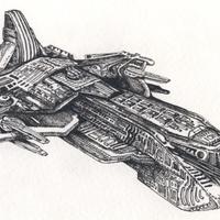 Grafika reloaded: csatahajó osztály tollrajzok