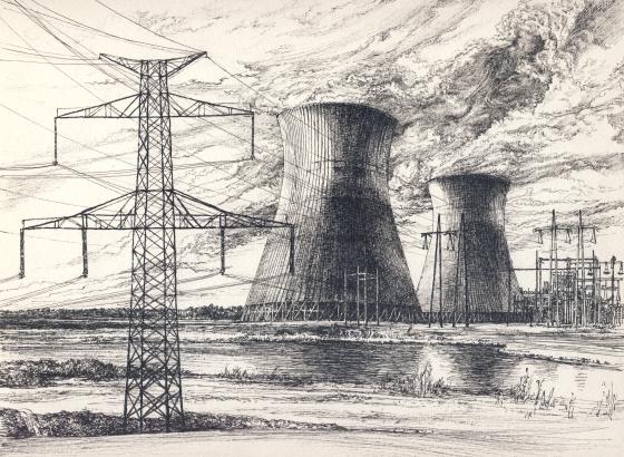 atomerőmű tollrajz