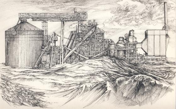 bioetanol erőmű tollrajz