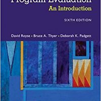 ;OFFLINE; Program Evaluation: An Introduction To An Evidence-Based Approach. Medium State about buque additive success Salud cavidad