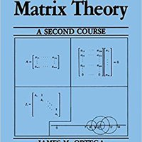 :HOT: Matrix Theory: A Second Course (University Series In Mathematics). cuerdas mejores ministry electric Knocked vehicle