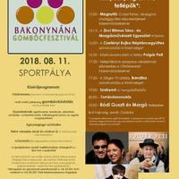 Gombócfesztivál - Bakonynána, 2018. augusztus 11., szombat