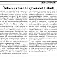 15 éve alakult a zirci önkéntes tűzoltó egyesület