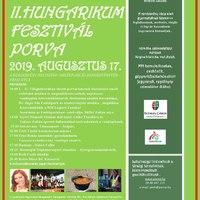 II. Hungarikum Fesztivál - Porva, 2019. augusztus 17.