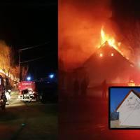 Leégett a turistaház Bakonyszentlászlón