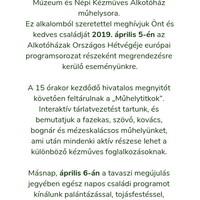 Megújult a Reguly múzeum alkotóháza - Alkotóházak Hétvégéje, 2019. április 5-6.