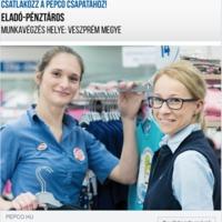 Eladót/pénztárost keres a PEPCO Veszprémben
