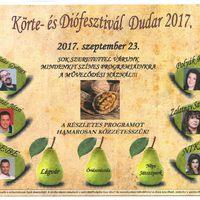Körte- és Diófesztivál 2017.szeptember 23., Dudar