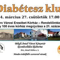 Diabétesz klub márciusban is!