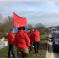 Félpályás útlezárás Veszprémben: a rabszolgatörvény ellen tiltakoznak a dolgozók