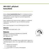 NEA 2017. pályázati konzultáció a Művelődési Házban