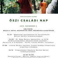 Őszi Családi Nap - 2019. november 9., szombat, a Reguly múzeumban