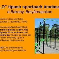 Sportparkot adnak át Zircen - 2019. augusztus 3., szombat