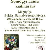 Somogyi Laura kiállításának megnyitója