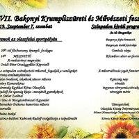 XVII. Bakonyi Krumpliszüreti- és Művészeti Fesztivál - 2019. szeptember 7., szombat
