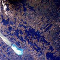 A Balaton és a Bakony felülnézetből