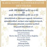 Kézműves alkalmak karácsonyi ajándékkészítő hétvége - a Reguly Antal Múzeum és Népi Kézműves Alkotóházban