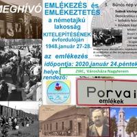 Emlékezés a kitelepítés évfordulóján - Zirc, 2020. január 24., péntek , Városháza