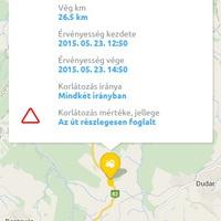 Félpályás útlezárás - Csesznek, Gézaháza - 2015. május 23.