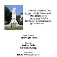 Hősök napi megemlékezés és koszorúzás - 2019. május 25., szombat