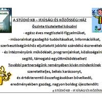 Ünnepi üdvözlet - Stúdió KB - Ifjúsági és Közösségi Ház