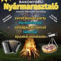 Nyármarasztaló tábortüzes zsíros kenyér party - Bakonybél, 2019. augusztus 24., szombat