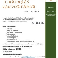 I. Bringás Vándortábor - 2020.08.07-13