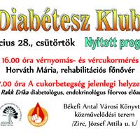 Diabétesz Klub nyitott programja