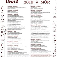 Adventi programsorozat - Mór, 2019.november 29. - december 22.