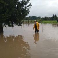 Kiöntött a Cuha patak, fél utca víz alatt (fotók)