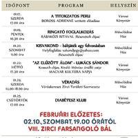 A Békefi Antal Városi Könyvtár, Művelődési Ház és Stúdió KB januári programajánlata