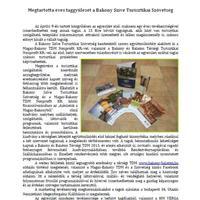 A Bakony Szíve Turisztikai Szövetség hírei