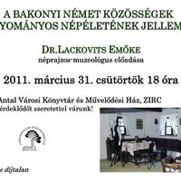 Bakonyi német közösségek... -előadás