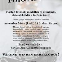 Fotós teaház - Zirc, 2019. nov. 26-tól havonta