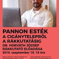 A cigánytelepről a rákkutatásig - előadás Pannonhalmán, 2019. 09.19., csütörtök