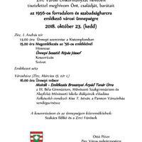 Október 23. - Városi megemlékezés