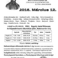 Reguly Antal Emléktúra március 12-én, szombaton