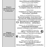 A Békefi Antal Városi Könyvtár, Művelődési Ház és Stúdió KB  júniusi programajánlója