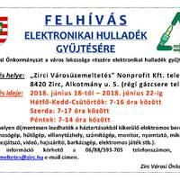 Elektronikai hulladék gyüjtés