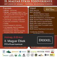 II. Magyar  Étkek Főzőversenye - Veszprém, 2019.06.22., szombat