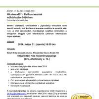Mi a teendő? - Civil szervezetek működése 2014-ben