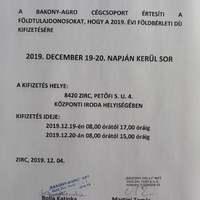 Hirdetmény - Bakony-Agro földtulajdonosoknak