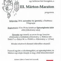 III. Márton Maraton