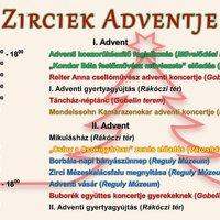 Adventi programok Zirc - 2019. november 29. - december 22.