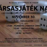 Társasjáték nap - Zirc, 2019. november 30., szombat